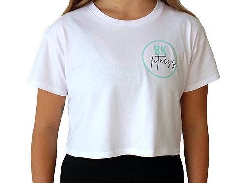 Women's white cropped t-shirt