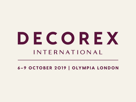 Memorize esta data: Decorex International de 6 a 8 de Outubro 2019