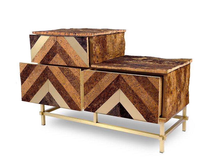 furniture drawers mobiliario em cortiça pura Tribus