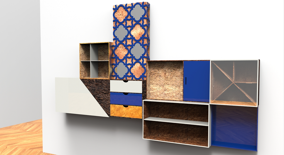 ambiente Furniture Corkwood AZZULAJ blue