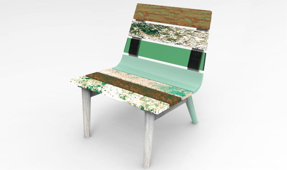 cadeira em cortiça pura Chairing pure corkwood chair green