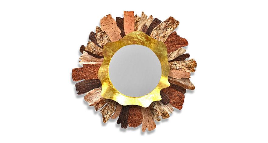 espelho decoração MIRAGGE mirror decoration golden
