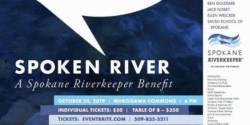 Photo 2: Flyer for the 2019 Spokane Riverkeeper's Benefit Dinner.