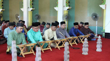 Royal Brunei Catering Sdn. Bhd. holds Tahlil for His Majesty's late parents at Royal Mausoleum