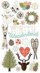 Winter Wonderland Chipboard Stickers