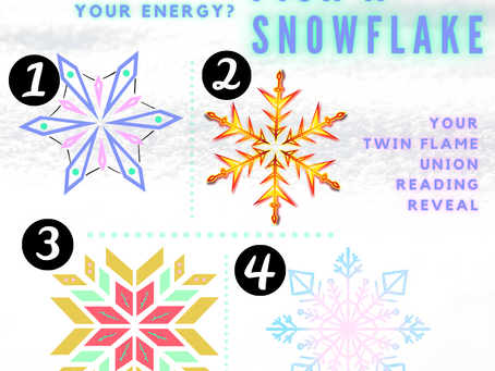 ❄️🔮 Pick A Snowflake: Twin Flame Union Energy Reading Reveal 💞