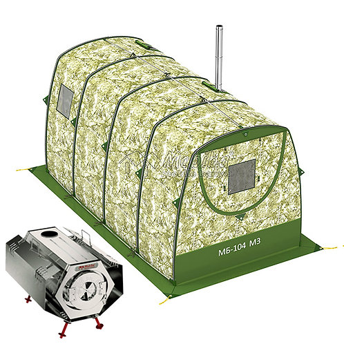 Expedition & Camping Sets: Mobiba MB-104 M3 (4-8 pers.) + Wood Stove Sogra-3