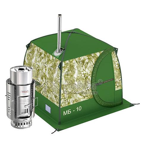 Mobile Sauna MB-10 (3-4 pers.) + Wood Stove + Steam Generator + Water Tank