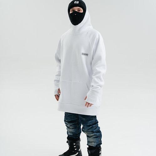 Snowboard Hoodie White