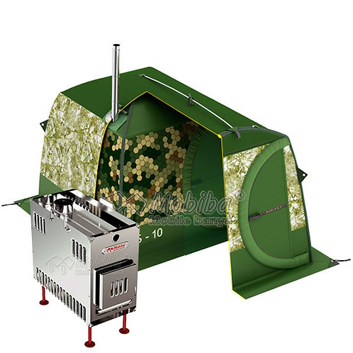 Sauna set of MB-10 + Additional second layer tent + Mediana Stove