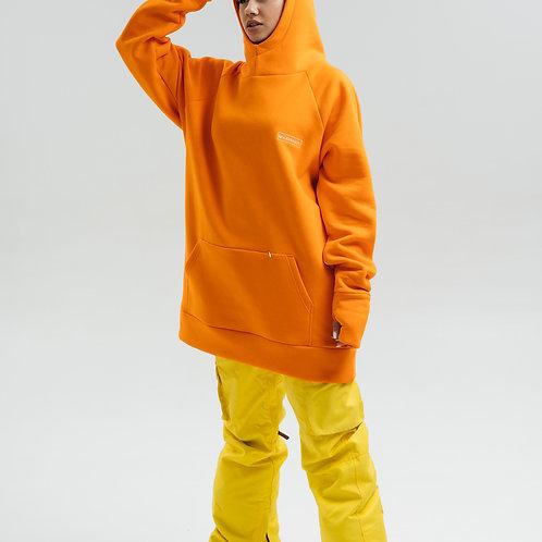 Snowboard Hoodie Orange