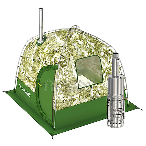 Portable Banya in the Backpack RB-200 (3-4 pers.) + Wood Stove + Steam Generator