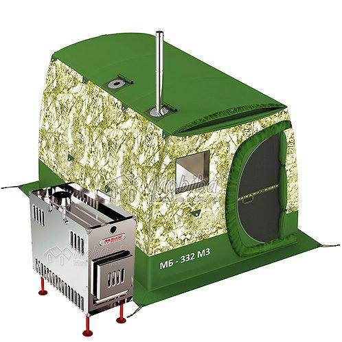 Mobiba All-Season Mobile Sauna Tent MB-332 M3 (4-6 pers.) + Wood Stove Mediana-5