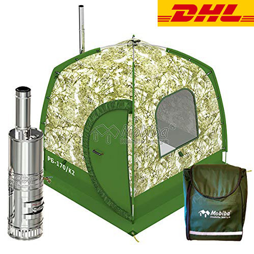 SPA-Sauna Complex in the Backpack RB-170/K2 (2-3 pers) + Stove + Steam Generator