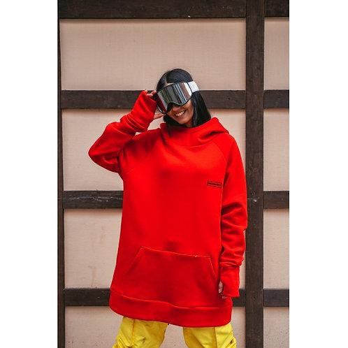 Snowboard Hoodie Red