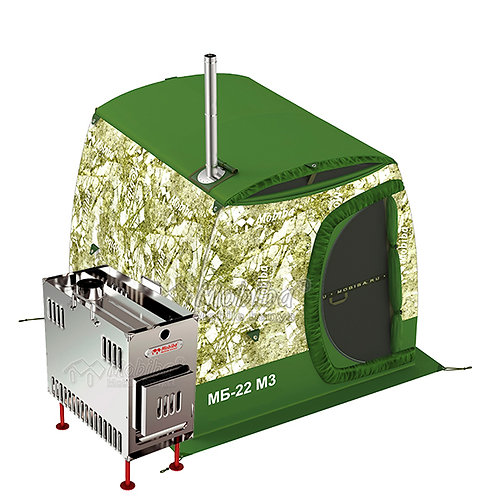 Mobile Portable All-Season Double-Layered Sauna Tent MB-22 М3 + Stove Mediana