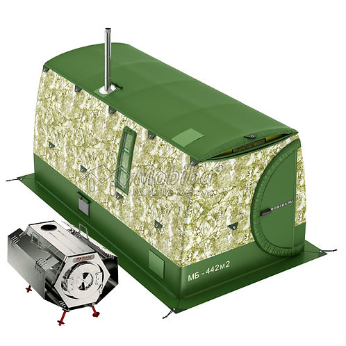 "Expedition & Camping Sets:  Mobiba MB-442 (4-8 pers.) + Wood Stove ""Sogra-3"""