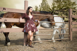 Elena with the horses
