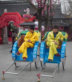 Working men in Nanjing