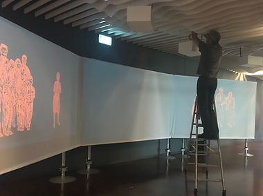 Rigging the multiscreen projection