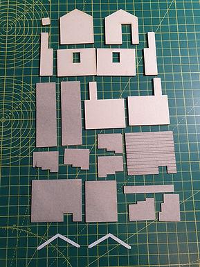 Laser cut parts for Scalescenes Weighbridge/Coal Office