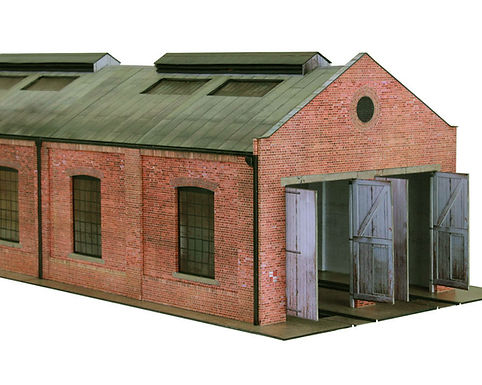 Laser cut parts for Scalescenes Gable Roof Engine Shed