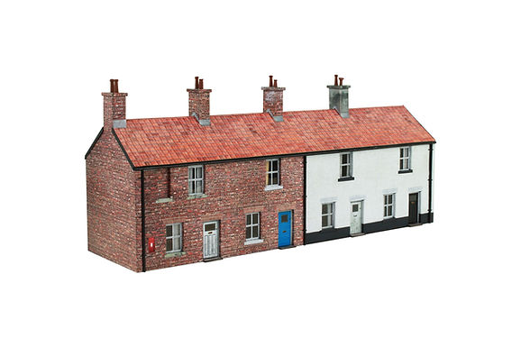 Laser Cut Parts for Scalescenes Row of Cottages TO19