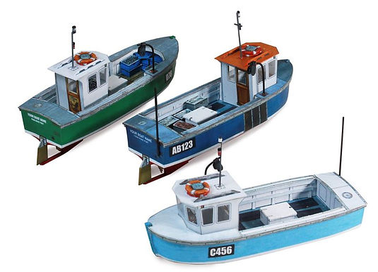 Laser cut parts for Scalescenes Small Fishing Boats T030d