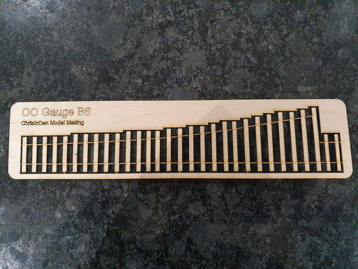 Laser Cut Plywood Track Base