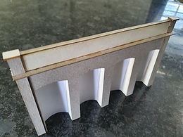 Laser cut parts for  Scalescenes Arched retaining wall kit arch section
