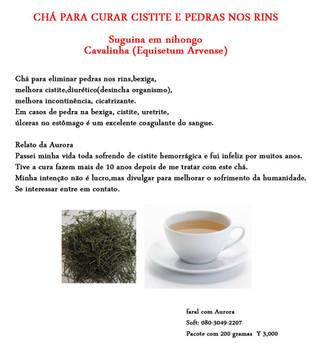Chá para curar cistite e Pedras nos rins
