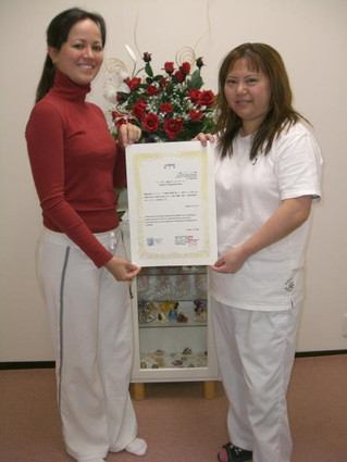 Homenagem para alunaSonia Matsuoka