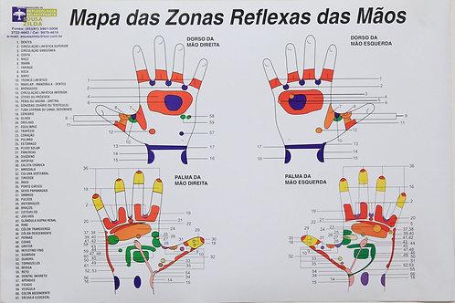 Mapa Reflexologia das Mãos em Português