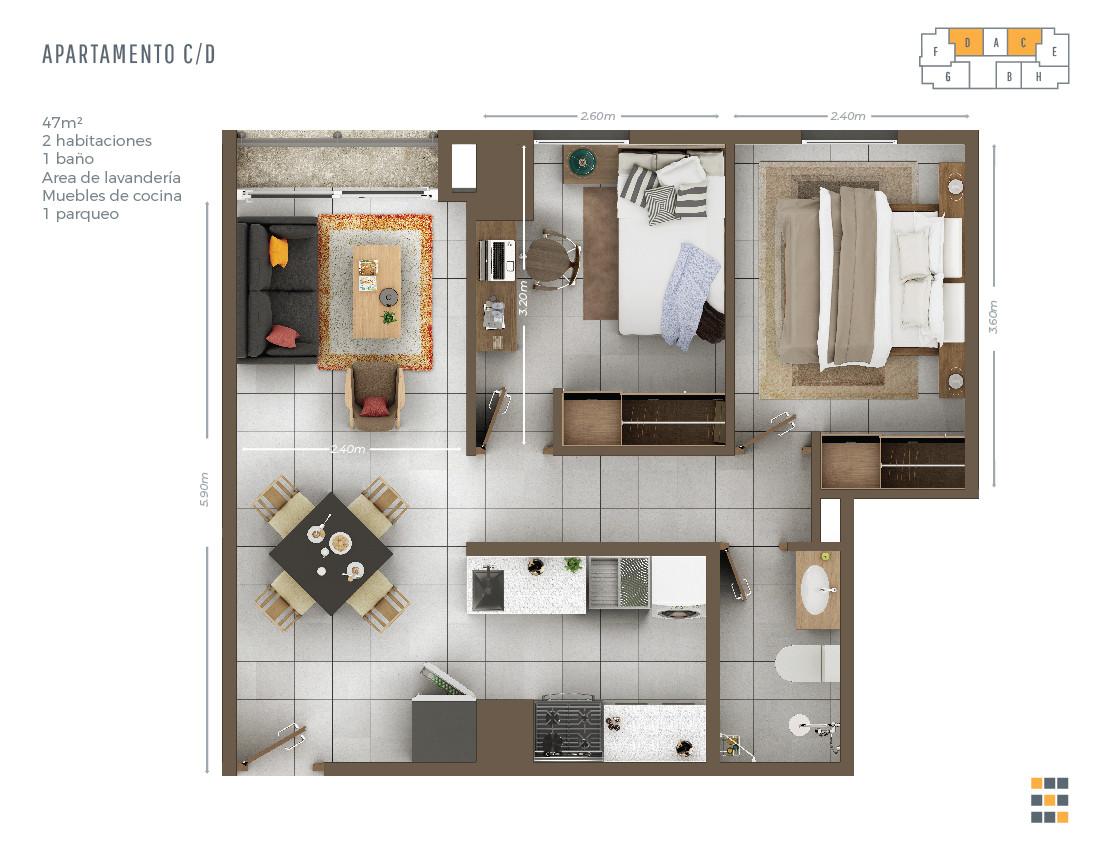 Casa Tres C/D