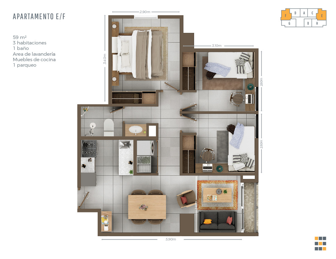 Casa Tres E/F