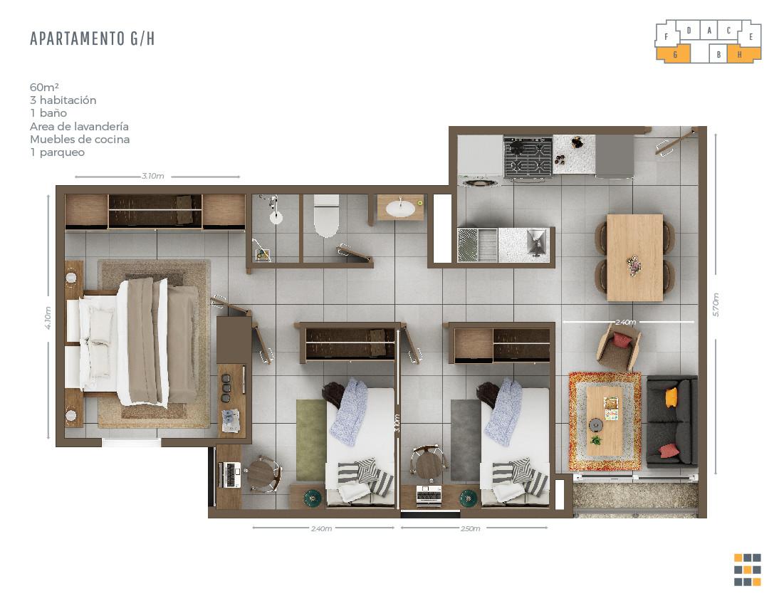 Casa Tres G/H