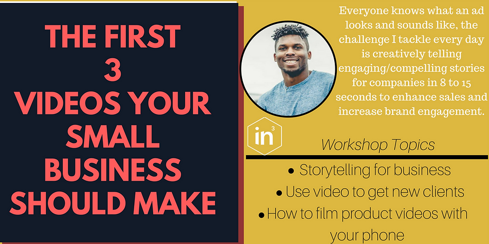 The First 3 Videos Your Small Business Should Make