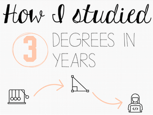 How I Studied Three Degrees in Three Years...