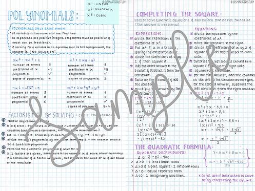 Grade 12 Algebra
