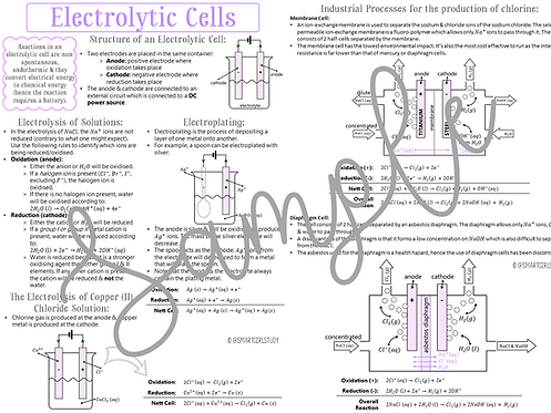 Grade 12 Electrochemistry