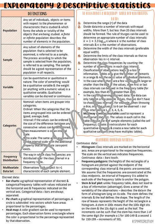 Exploratory & Descriptive Statistics