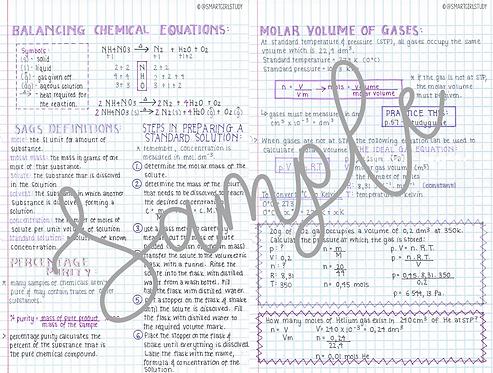Grade 11 & 12 Quantitative Chemistry