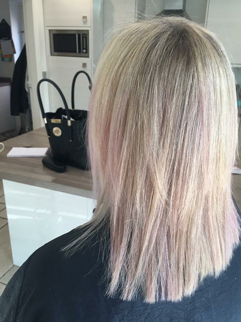Blonde and pink tones