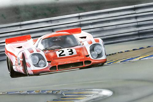 Porsche 917#23 A3 Fine Art Print *Limited edition