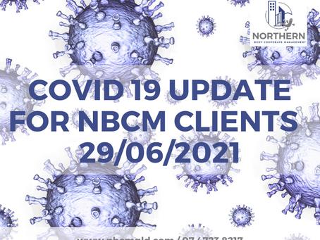 COVID Update 29 June 2021