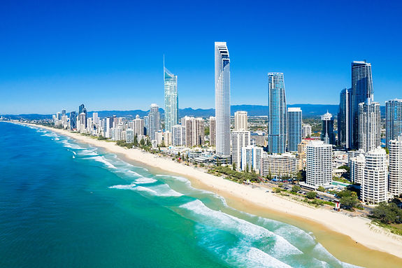 Sunny view of Surfers Paradise on the Go