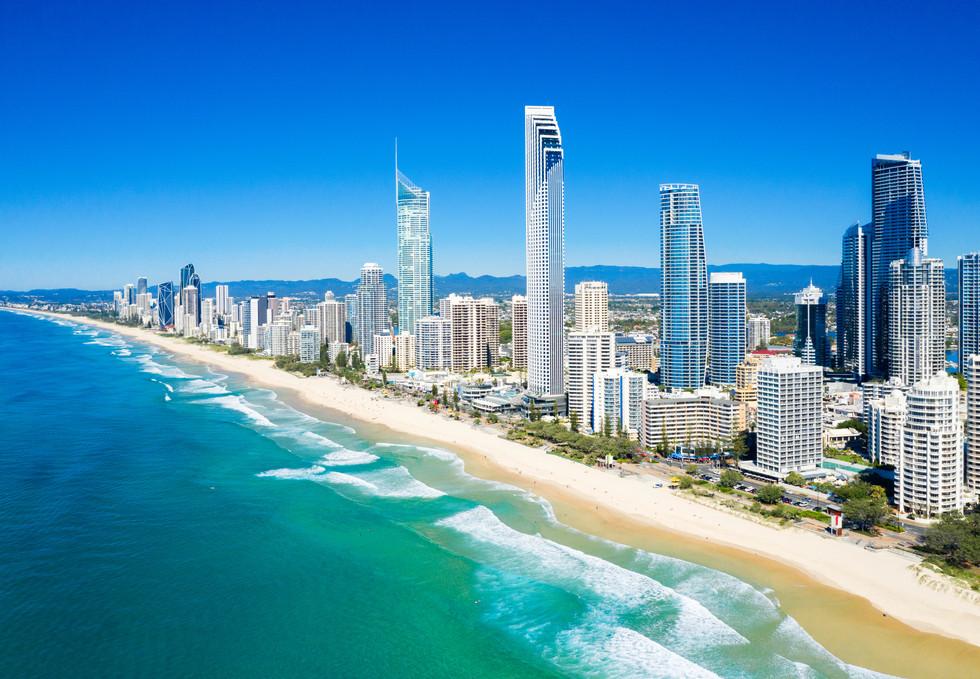 Gold Coast beach line