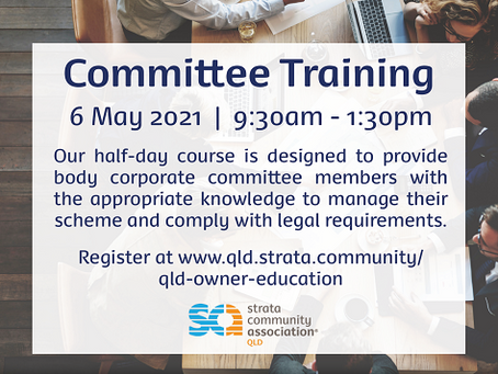 SCA (Qld) are offering courses specifically for Strata Owners