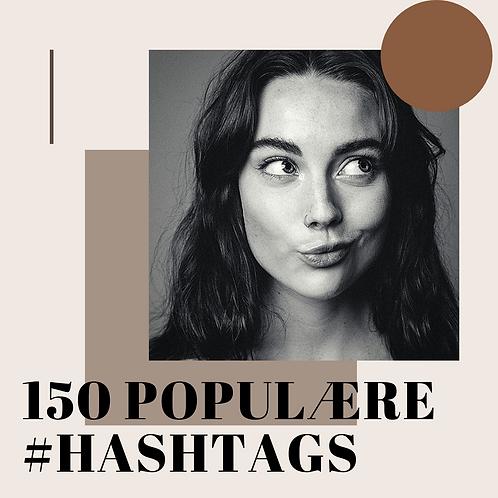 150 Populære #hashtags