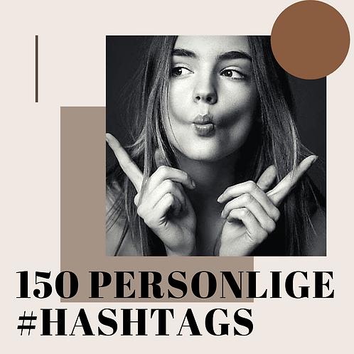 150 Personlige #hashtags for din instagram